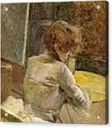 Waiting At Grenelle Acrylic Print