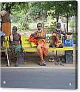 Waiting For Bus No 42 To Nirvana Acrylic Print by Lee Stickels