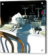 Waiting For Diners Acrylic Print