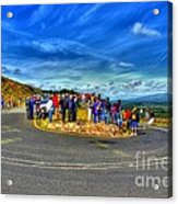 Waiting For The Cycle Race Acrylic Print
