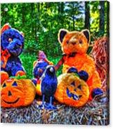 Waiting For The Great Pumpkin  Drybrush 01 Grunge Acrylic Print