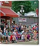 Waiting For The Parade Acrylic Print