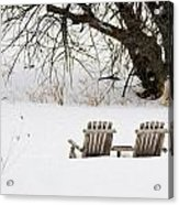 Waiting For The Right Season As An Oil Painting Acrylic Print