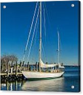 Waiting For Warmer Weather At The Dock Acrylic Print
