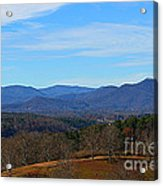 Waiting For Winter In The Blue Ridge Mountains Acrylic Print