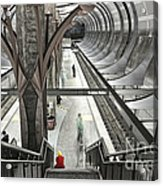 Waiting - Hollywood Subway Station. Acrylic Print
