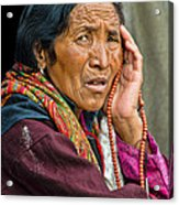 Waiting In Dharamsala For The Dalai Lama Acrylic Print