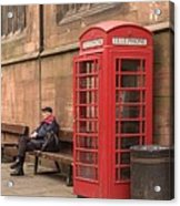 Waiting On A Call Acrylic Print by Mike McGlothlen