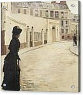 Waiting Paris Rue De Chanteaubriand Acrylic Print by Jean Beraud