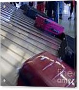 Waiting People Claim Baggage Airport Conveyor Belt Acrylic Print