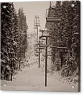 Waiting Ski Lifts Acrylic Print