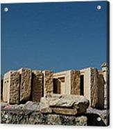 Waiting Tablets At Acropolis Acrylic Print