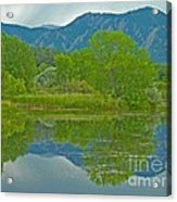 Walden Pond Spring Reflections Acrylic Print by George Tuffy