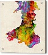 Wales Watercolor Map Acrylic Print