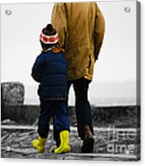 Walk Alongside Me Daddy Acrylic Print