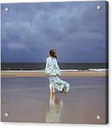 Walk At The Beach Acrylic Print by Joana Kruse