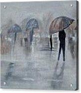 Walk In The Rain Acrylic Print
