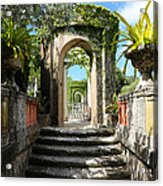 Walk In Vizcaya Gardens Acrylic Print