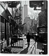 Walk Manhattan 1980s Acrylic Print