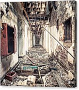 Walk Of Death - Abandoned Asylum Acrylic Print by Gary Heller