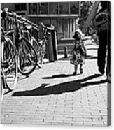 Walk Safely Little Girl  Acrylic Print