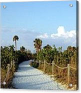 Walk Way To Beach Acrylic Print