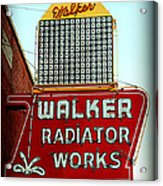 Walker Radiator Works Sign Acrylic Print