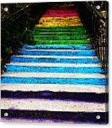 Walkin' On Rainbow Acrylic Print by Lucy D