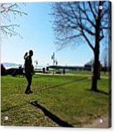 Walking A Thin Line Acrylic Print