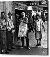 Walking Billboard Nevada Club Reno Nevada 1977 Acrylic Print