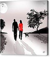 Walking By Moonlight Acrylic Print