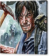Walking Dead Sketch Cover Daryl Acrylic Print