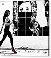 Walking Girl Acrylic Print