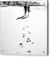 Walking In The Beach Acrylic Print