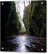 Walking In The Gorge Acrylic Print