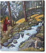 Walking In The Woods One Day Acrylic Print