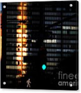 Walking Man - Architecture Of New York City Acrylic Print