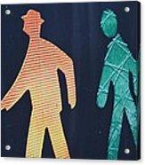 Walking Man Symbol Acrylic Print