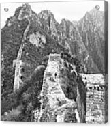 Walking On Great Wall Acrylic Print