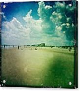Walking On The Beach Acrylic Print