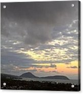 Walking On The Clouds Over Waikiki Acrylic Print