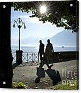 Walking On The Lakefront Acrylic Print