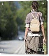 Walking On The Road Acrylic Print