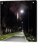 Walking Path Along The Reflecting Pool Acrylic Print