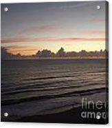 Walking The Beach At Sunrise Acrylic Print