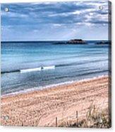 Walking The Beach On A Peaceful Morning Acrylic Print