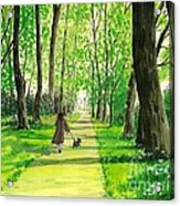 Walking The Scottie Acrylic Print