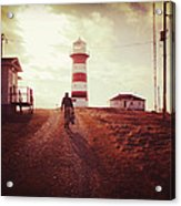 Walking To The Lighthouse Acrylic Print