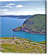 Walking Trails Everywhere In Signal Hill National Historic Site In St. John's-nl  Acrylic Print