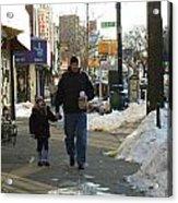 Walking With Dad Acrylic Print